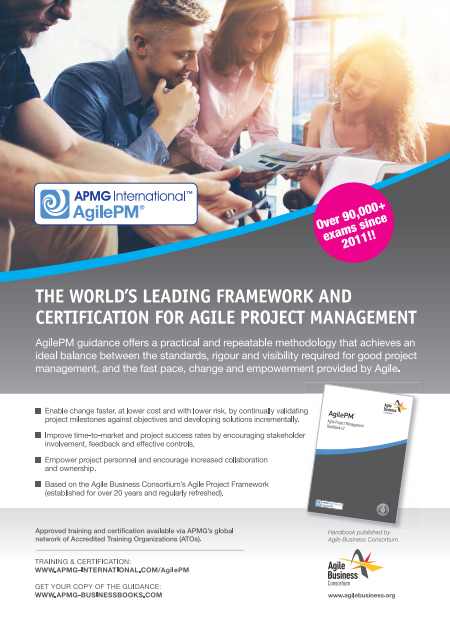 APMG AgilePM Advert preview